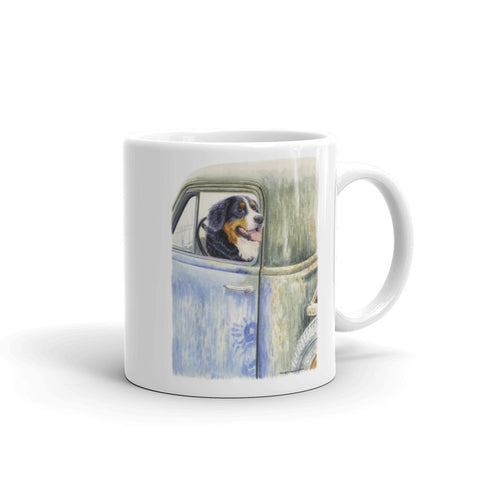 """Be Back in a Minute"" Bernese Mountain Dog 11oz Coffee Mug"