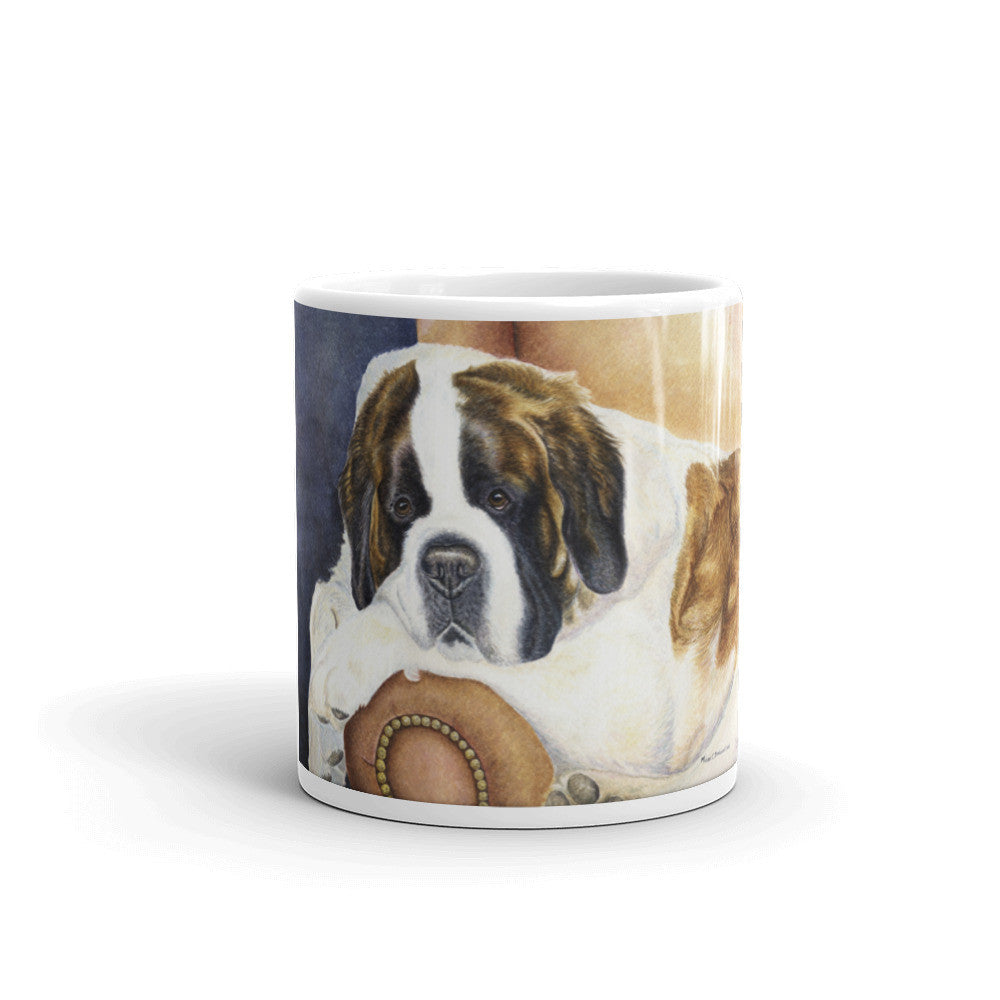 """Dad's Chair"" Saint Bernard 11oz Coffee Mug"