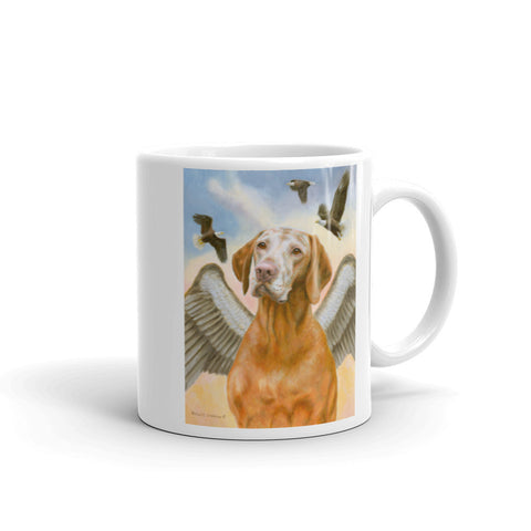 """Soar with Eagles"" Vizsla 11 Coffee Mug"