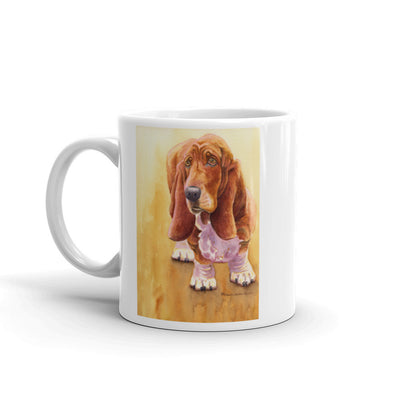 """Basset Hound Watercolor"" 11oz Coffee Mug"