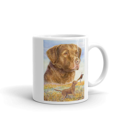"""Bay Flush"" Chesapeake Bay Retriever 11oz Coffee Mug"