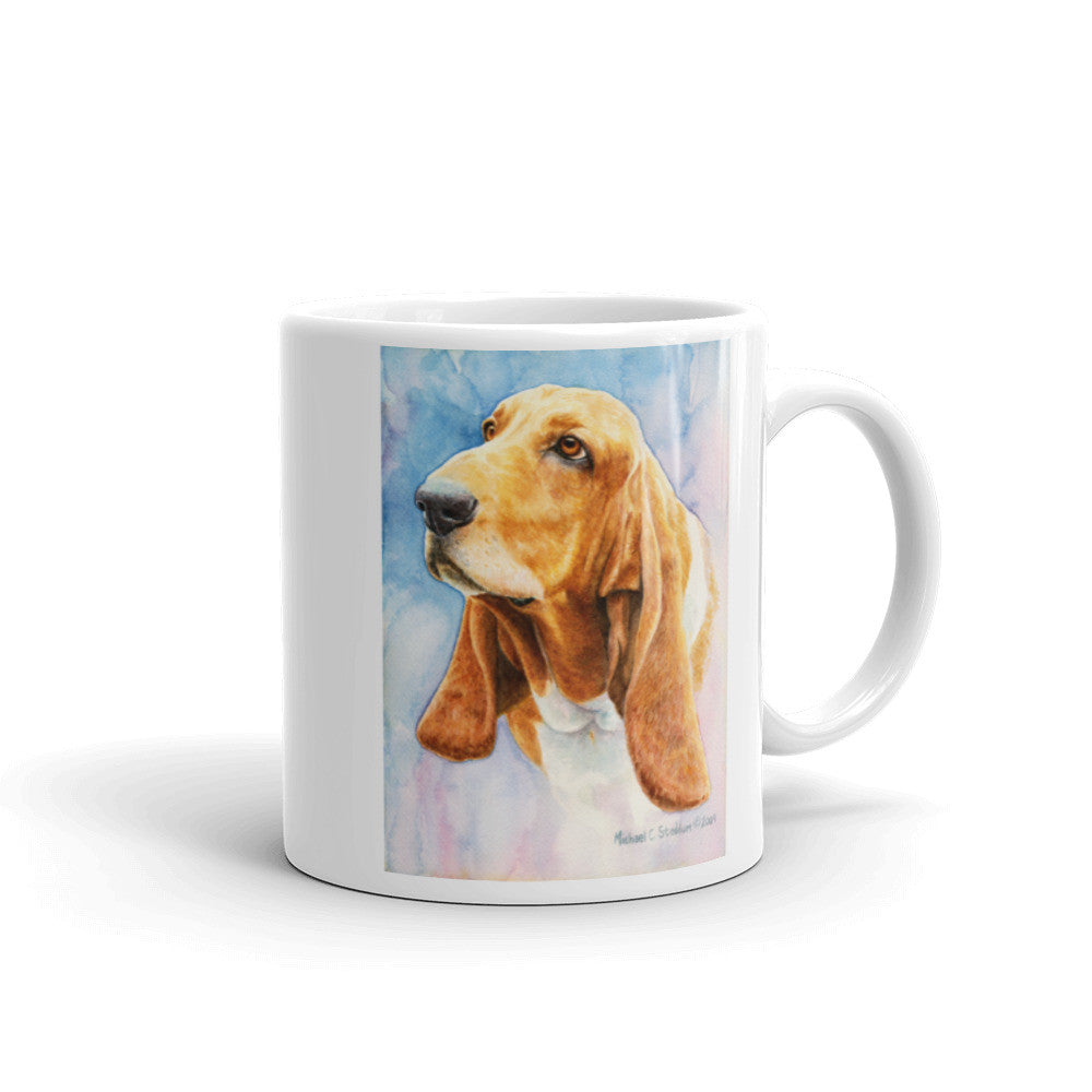"""Basset Hound Head Study IV"" 11oz Coffee Mug"