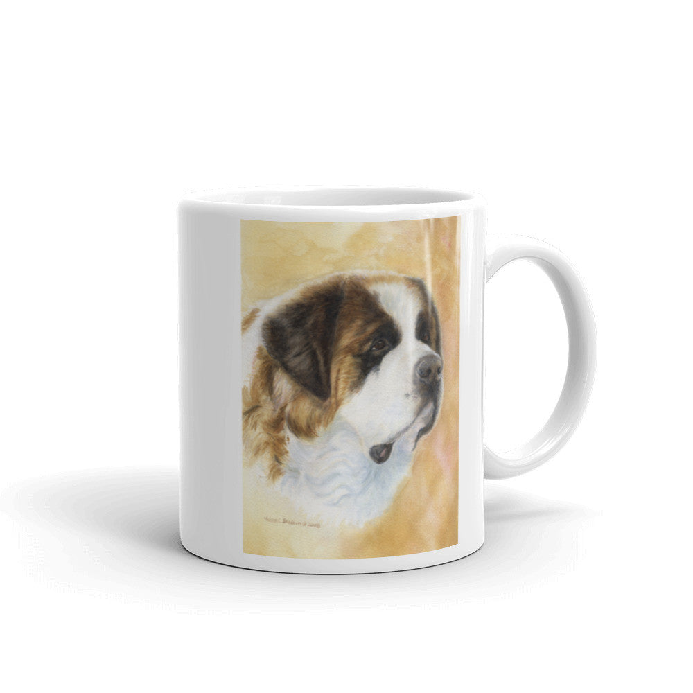 Saint Bernard Head Study Two, 11oz Coffee Mug