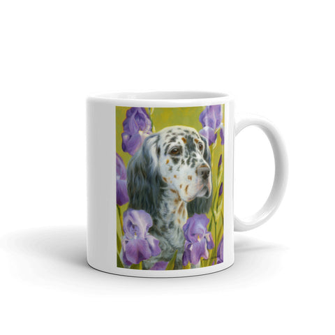 """English Iris"" English Setter, 11oz Coffee Mug"