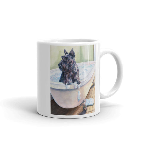"""Bath"" Scottish Terrier 11oz Coffee Mug"