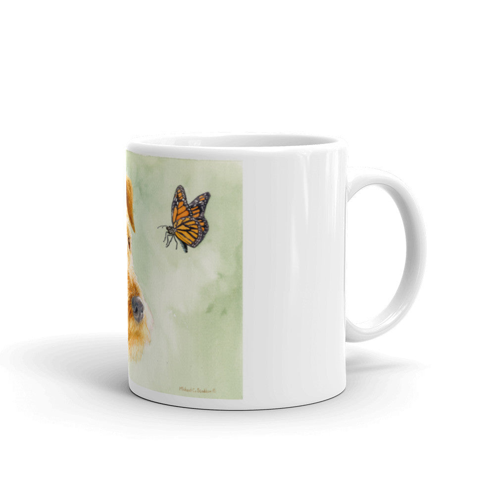 """Flight Path"" Irish Terrier 11oz Coffee Mug"