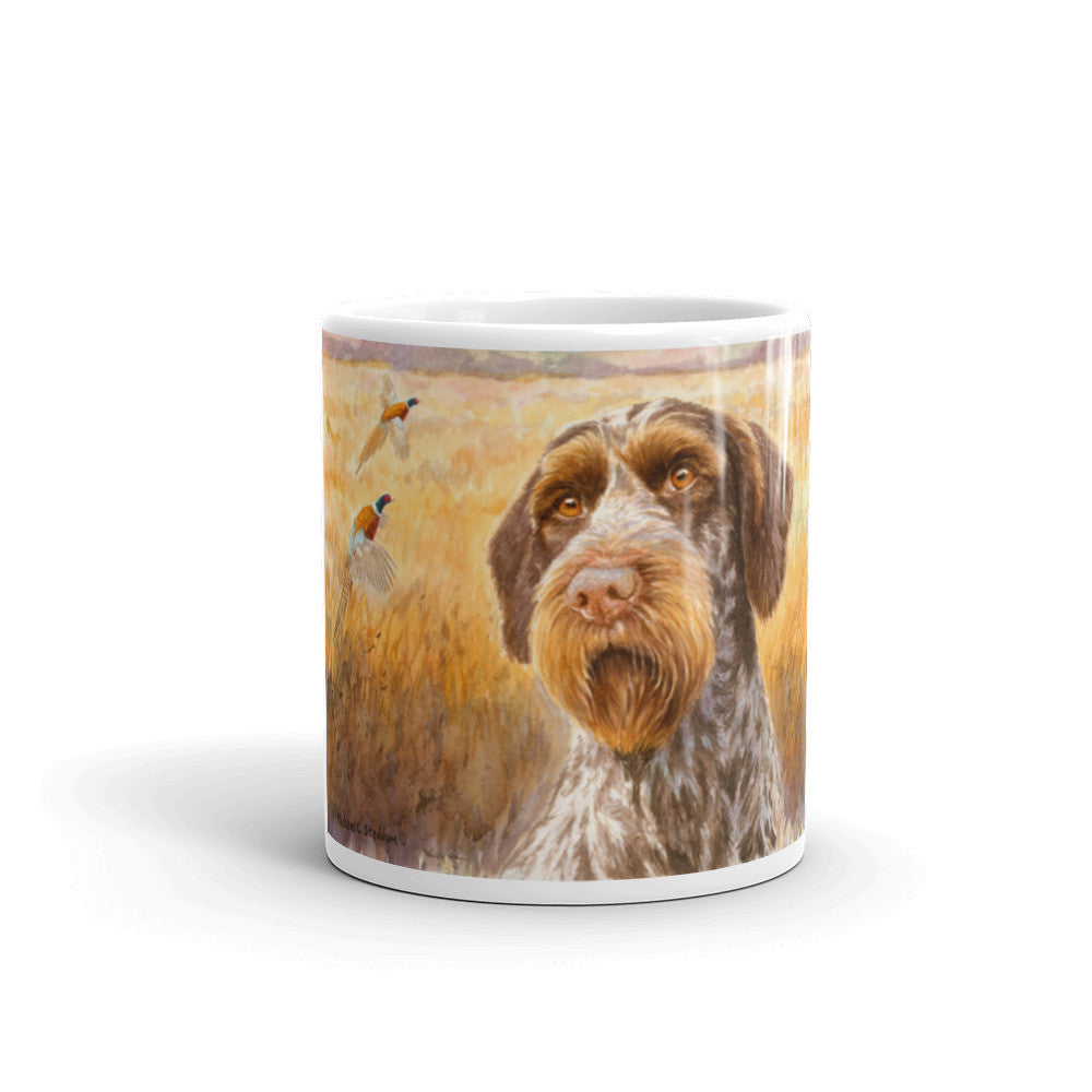 """October"" German Wirehaired Pointer 11oz Coffee Mug"