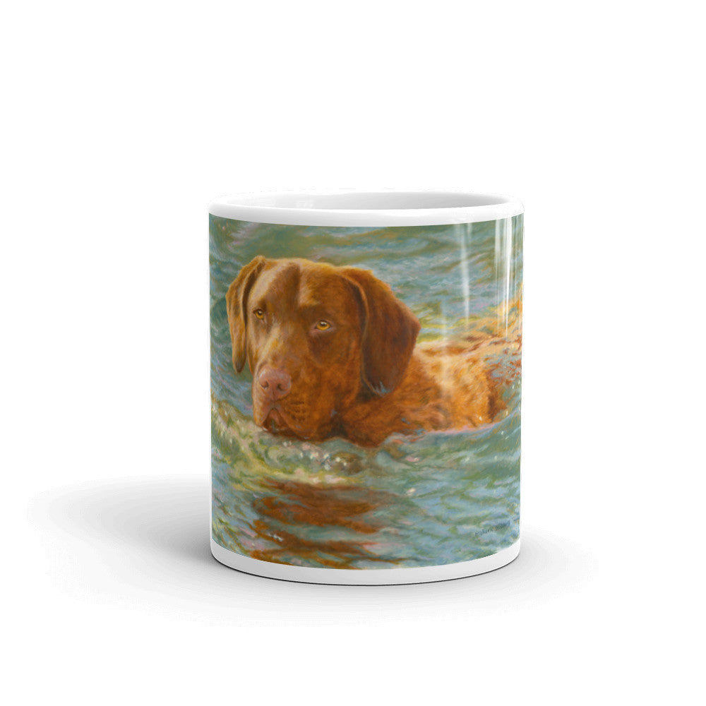 """On Mission"" Chesapeake Bay Retriever 11oz Coffee Mug"
