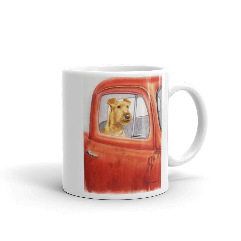 """Sunday Drive"" Irish Terrier 11oz Coffee Mug"