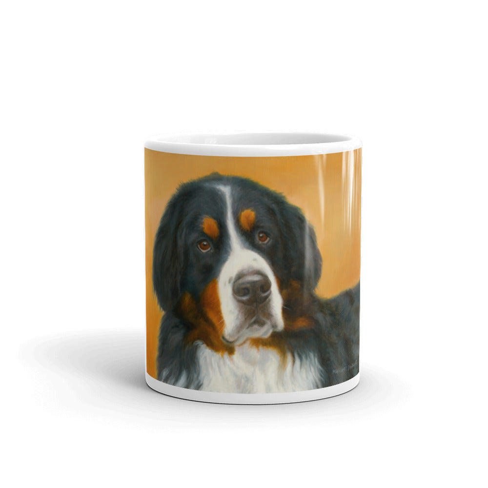 Bernese Mountain Dog Oil Study 11oz Coffee Mug