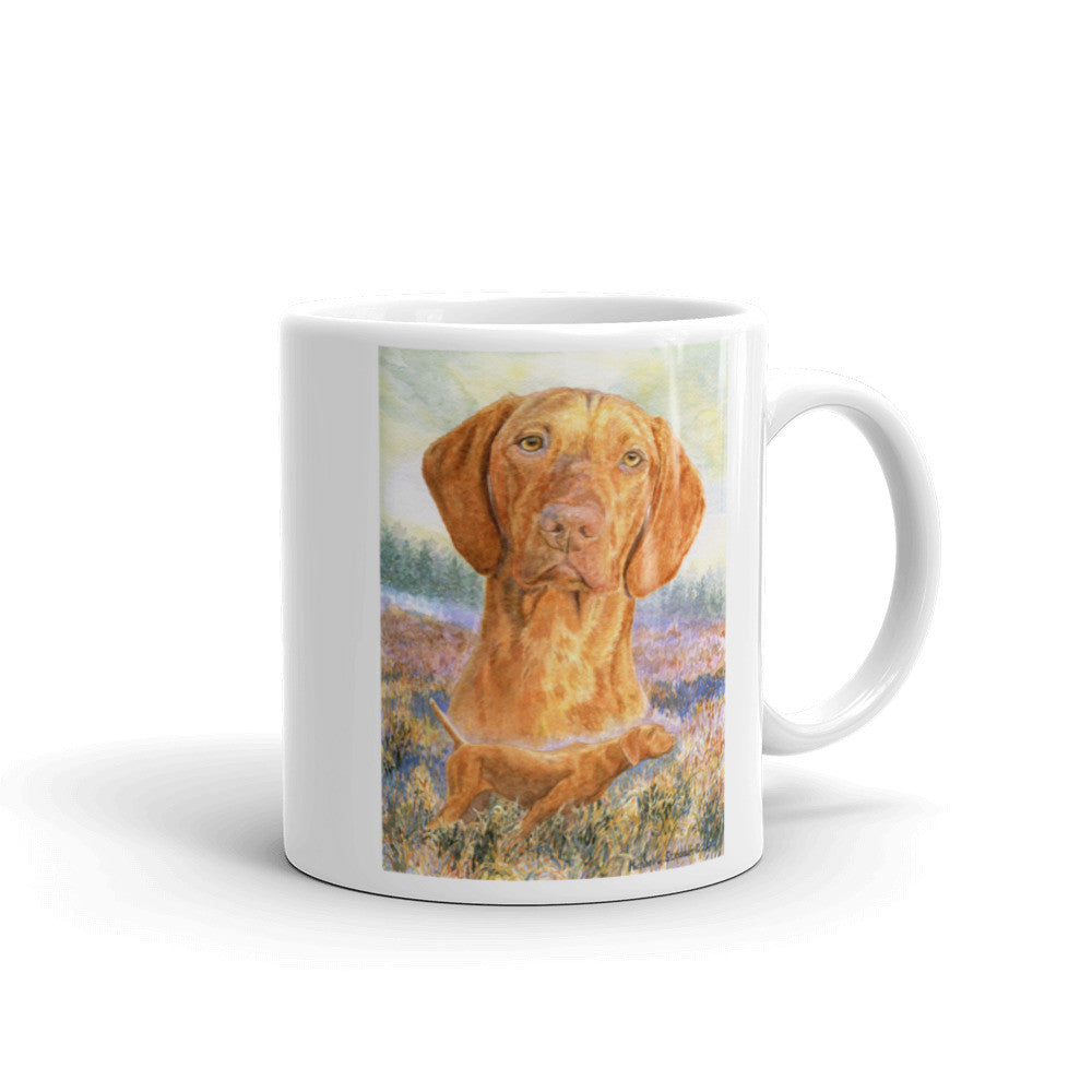 """Graceful Point"" 11oz Vizsla Coffee Mug"