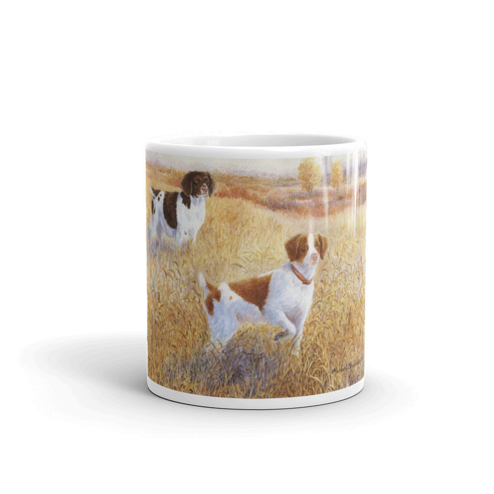 """Brittany Pair"" Brittany 11oz Coffee Mug"