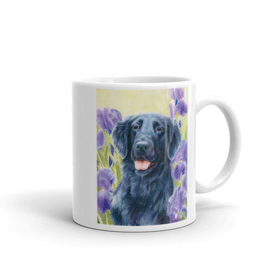 """Glory"" Flat Coated Retriever 11oz Coffee Mug"