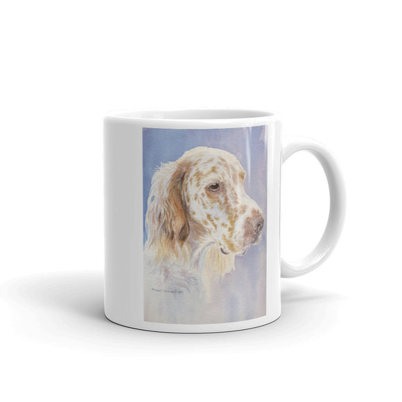 English Setter Head Study II, 11oz Coffee Mug