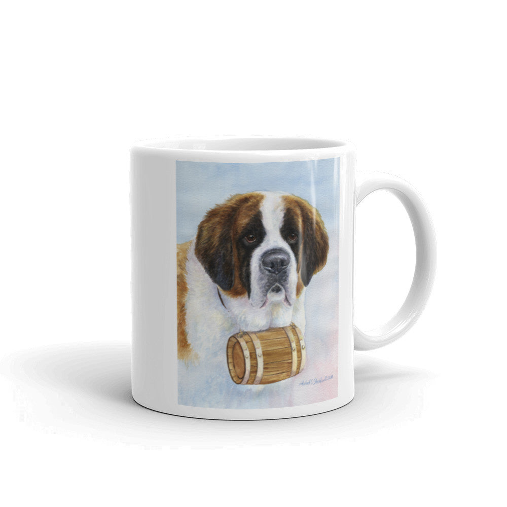 Saint Bernard Head Study III, 11oz Coffee Mug