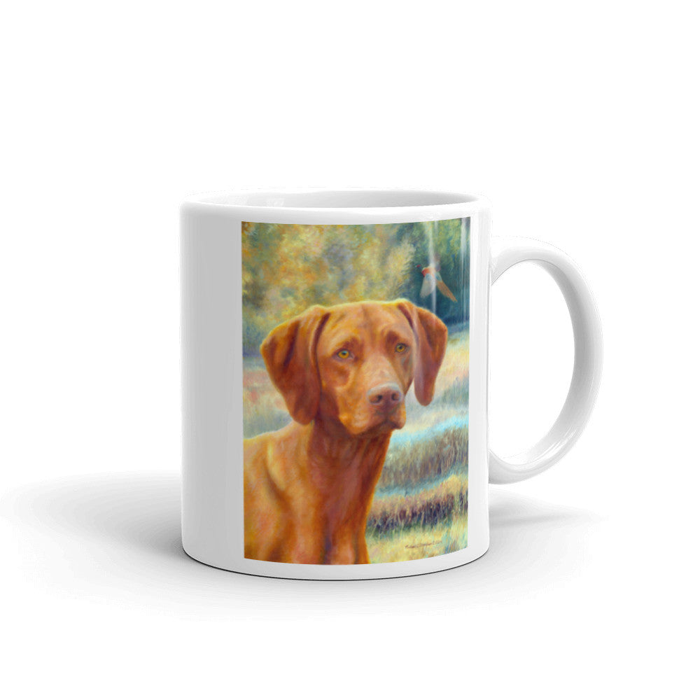"""Field Days"" 11oz Vizsla Coffee Mug"