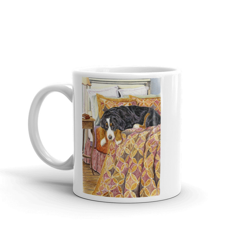 """Guest Room"" Bernese Mountain Dog 11oz Coffee Mug"