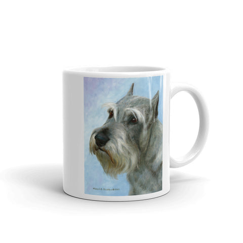 """Schnauzer Head Study II, 11oz Coffee Mug"
