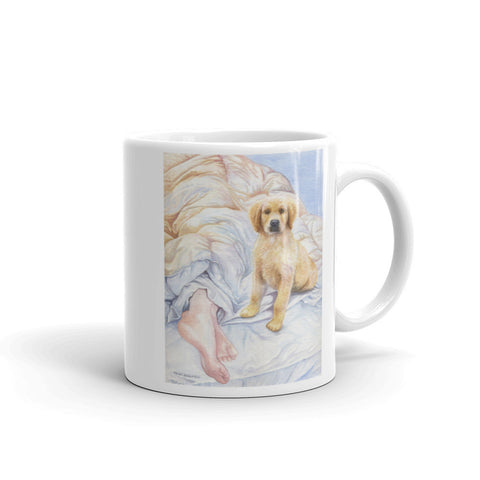"""Good Morning"" Golden Retriever 11oz Coffee Mug"