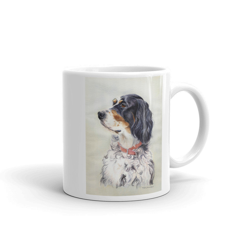 English Setter Head Study 11oz Coffee Mug