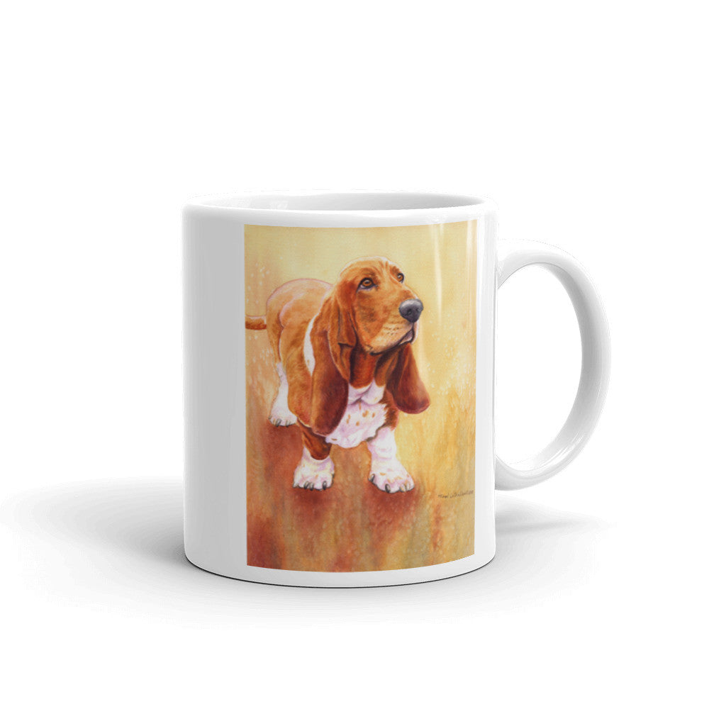 """Basset Hound II"" 11oz Coffee Mug"