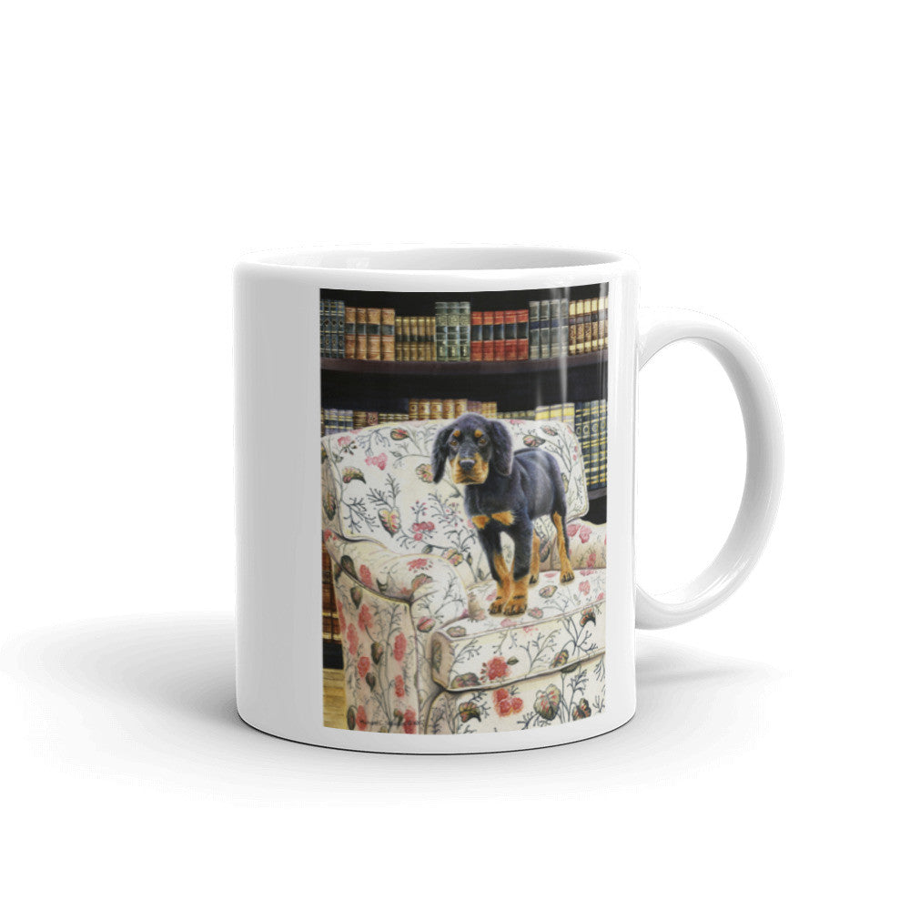 """The Scholar"" Gordon Setter 11oz Coffee Mug"
