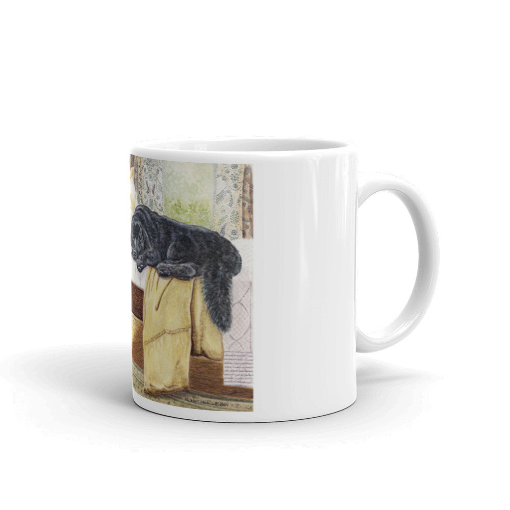 """Newfy on the Bed"" Newfoundland 11oz Coffee Mug"