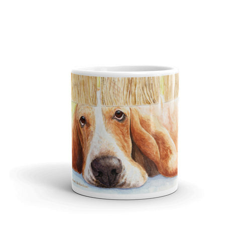 """Basset Watch"" Basset Hound 11oz Coffee Mug"
