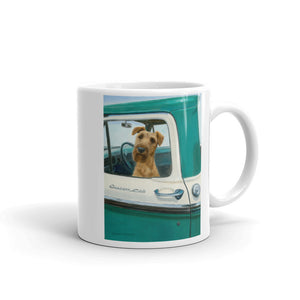 """Road Trip"" Irish Terrier 11oz Coffee Mug"