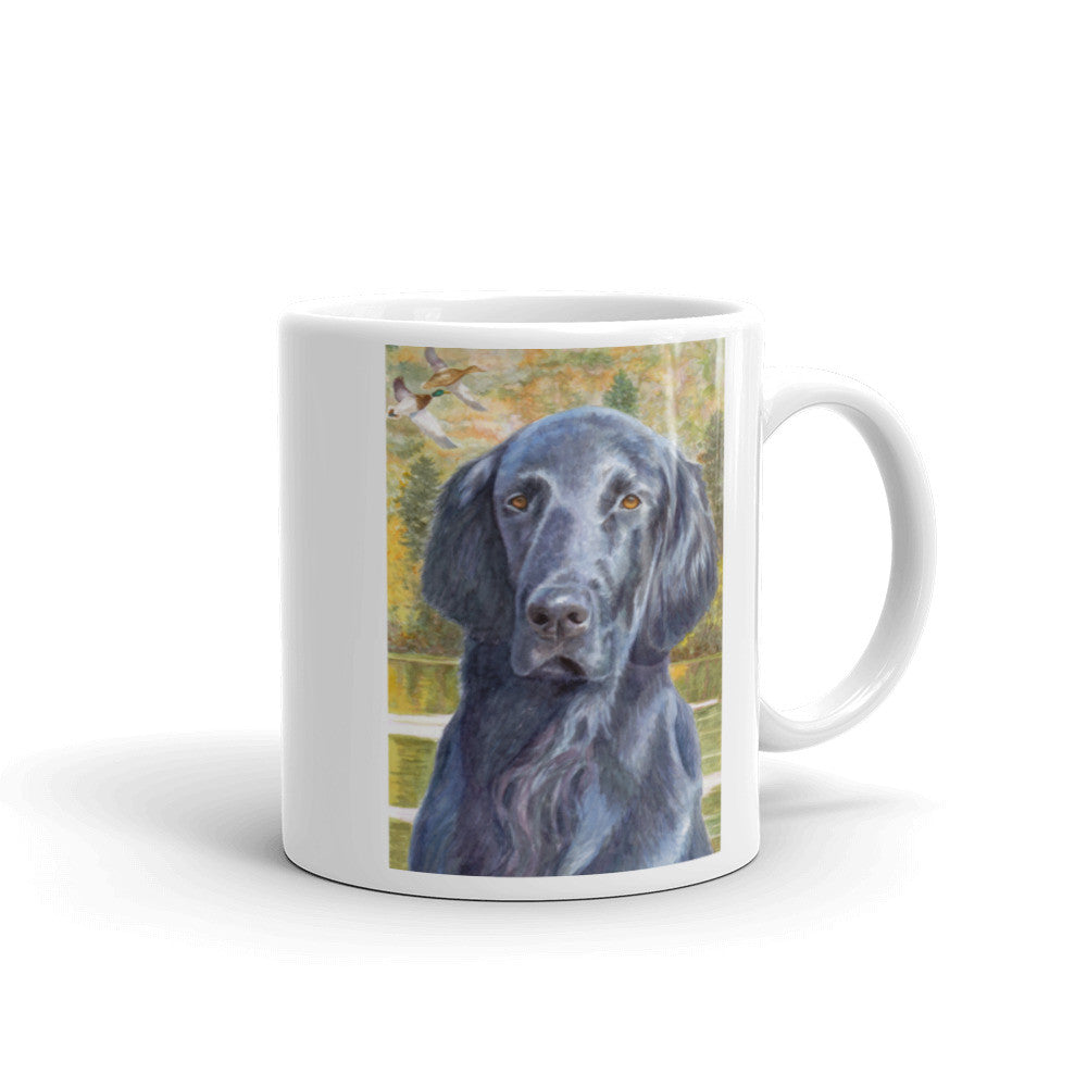 """Fall Days"" Flat Coated Retriever 11oz Coffee Mug"