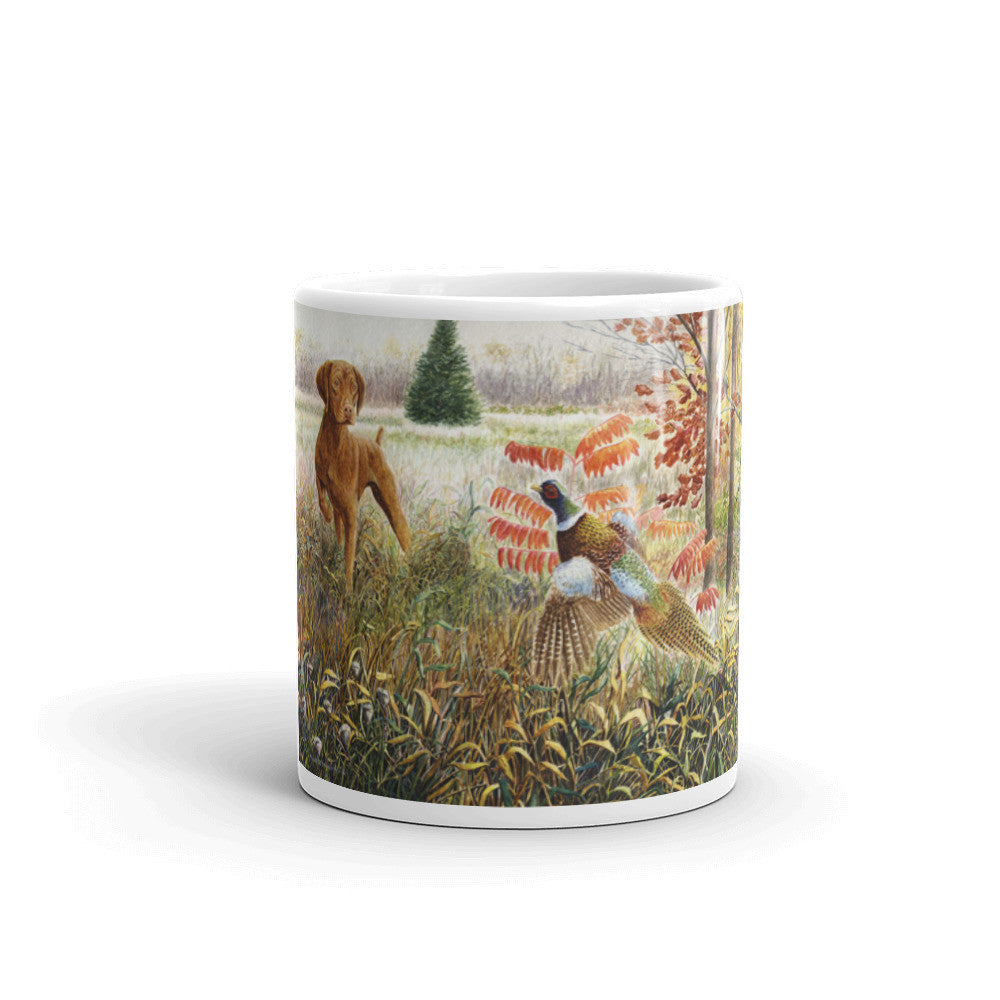 """Vizsla on Point"" Vizsla 11oz Coffee Mug"