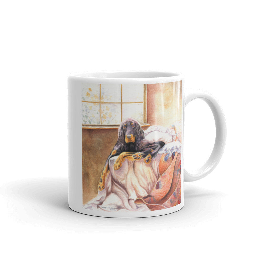 """Gordon on the Bed"" Gordon Setter 11oz Coffee Mug"