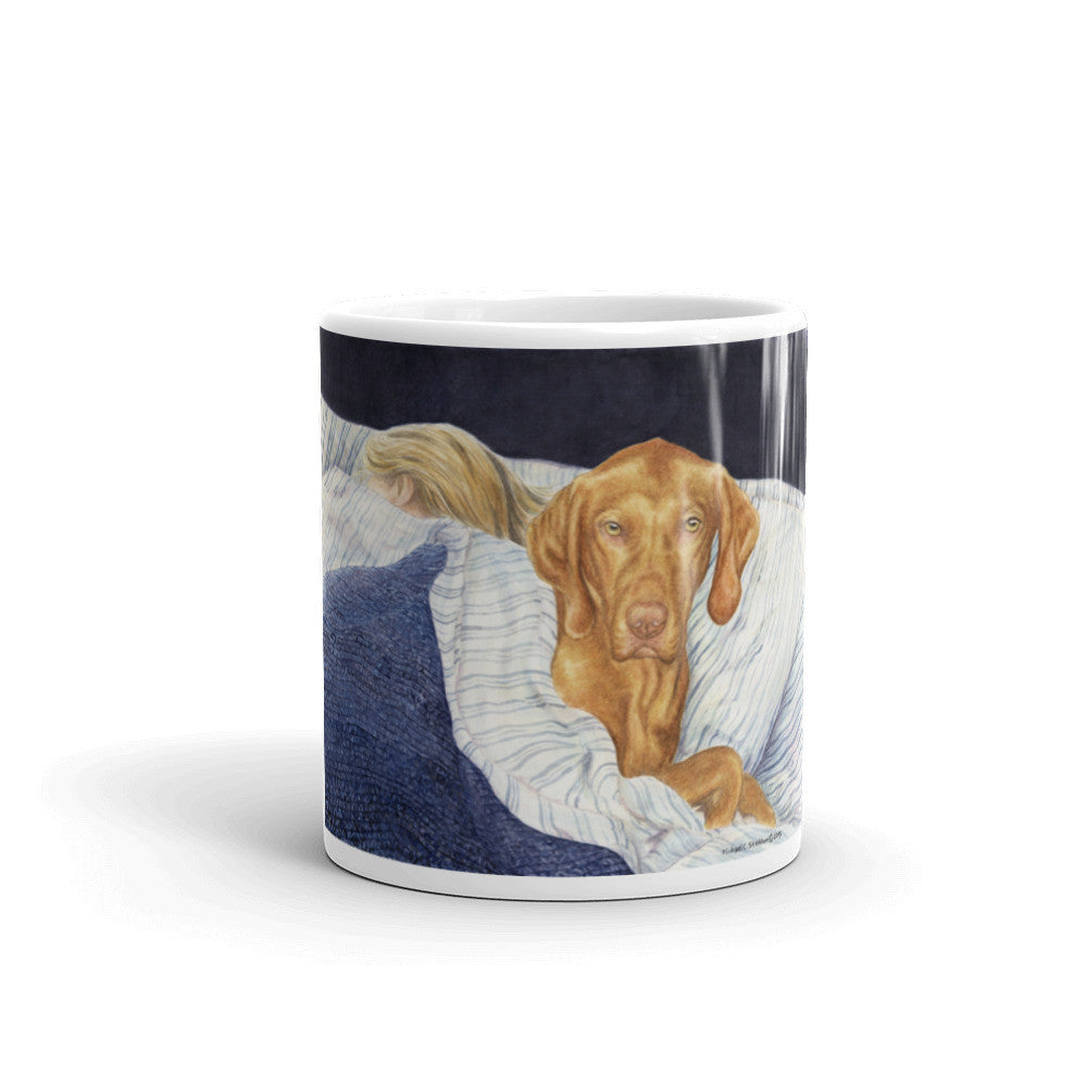 """Lucky Dog"" Vizsla 11oz Coffee Mug"