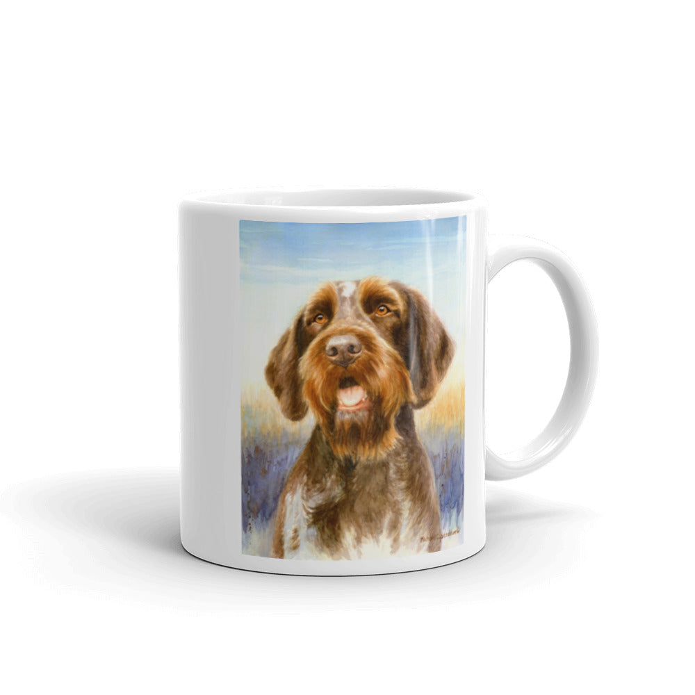 """Field Day"" German Wirehaired Pointer 11oz Coffee Mug"
