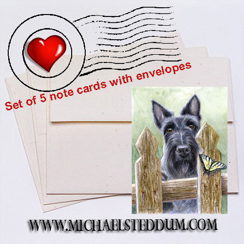 The Chase, Scottish Terrier Note Card Set