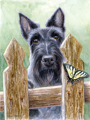 """The Chase"" A Limited Edition Scottish Terrier Print"