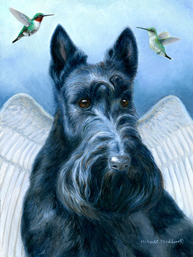 """Angel Wings"" A Limited Edition Scottish Terrier Print"