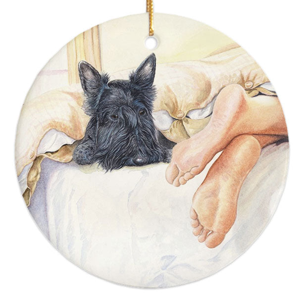 """Scottie Feet"" Scottish Terrier Ornament"