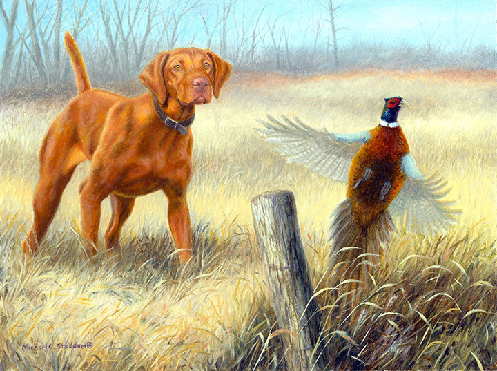 """Old Fence Row"" Limited Edition Vizsla Print"