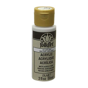 FolkArt Acrylic Paint in Assorted Colors (2 oz), 424, Light Gray