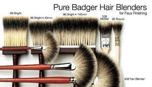 Pure Badger Hair Softner-  5-Row Thickness- Size 60