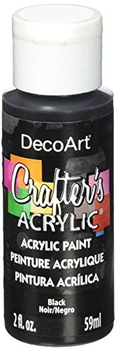 DecoArt Crafter's Acrylic Paint, 2-Ounce, Black