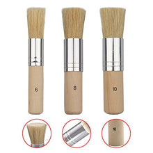 Load image into Gallery viewer, Wooden Stencil Brush (Set of 3)