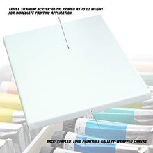"Load image into Gallery viewer, Acrylic Gesso Primed Stretched Art Canvas Oil Paint 11x14"" 2-Pack"