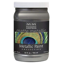 Load image into Gallery viewer, Modern Masters MM209 Matte Metallic Paint, Pewter, Quart