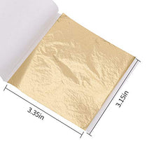 Load image into Gallery viewer, Imitation Gold Leaf Sheets - 100 Sheets 3.15 by 3.35 Inches