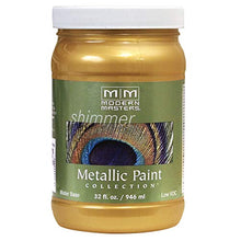 Load image into Gallery viewer, Modern Masters ME70132 Collection Metallic Paint, 32 oz, Satin Rich Gold