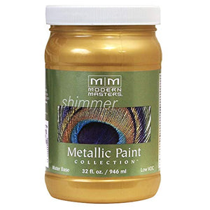 Modern Masters ME70132 Collection Metallic Paint, 32 oz, Satin Rich Gold