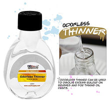 Load image into Gallery viewer, U.S. Art Supply Odorless Mineral Spirits Thinner, 125ml / 4.2 Fluid Ounce Container