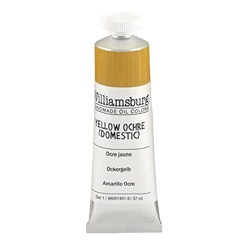 Williamsburg Oil Paint Yellow Ochre (Domestic) 37 ml tube